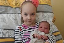 JOSEFÍNA ZÁMEČNÍKOVÁ, VOLARY. Narodila se ve středu 30. ledna ve 4 hodiny a 57 minut v prachatické porodnici. Vážila 2770 gramů. Má sestřičky Terezku (6 let) a Pavlínku (10 let). Rodiče: Růžena a Josef Zámečníkovi.
