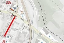 Uzavírka při rekonstrukci ulice 1. máje ve Vimperku od 30. března.