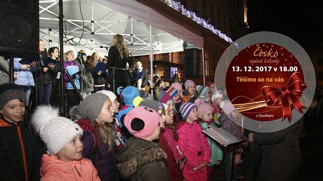 Ve středu 13. prosince opět celým Českem zazní koledy. Těšíme se i na vás.