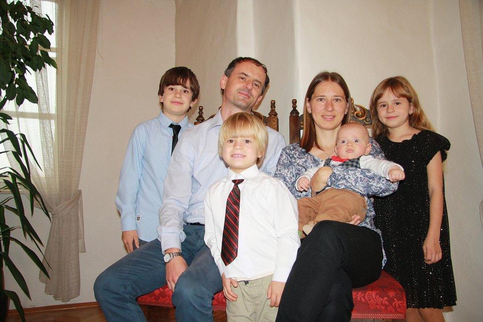 Václav Sedlák s rodinou.