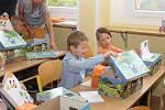 První školní den na ZŠ Zlatá stezka v Prachaticích.