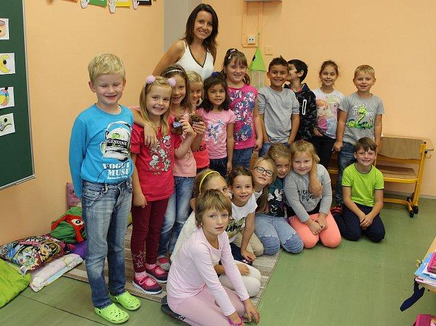 Třída 1.C vZákladní škole ve Volarech