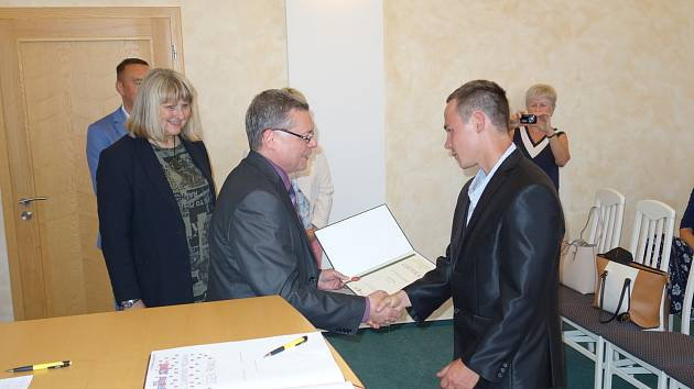 Předávání ocenění Učeň roku 2019 ve Vimperku.