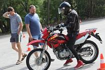 Místo, kde mohou skládat prachatičtí motorkáři praktické zkoušky, je v blízkosti Klimy.