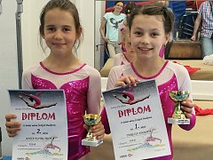 Vimperské gymnastky vezou domů dvě medailová umístění.
