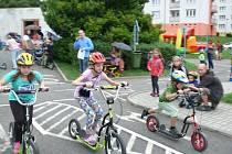 Malí závodníci při Mini GP v Prachaticích.