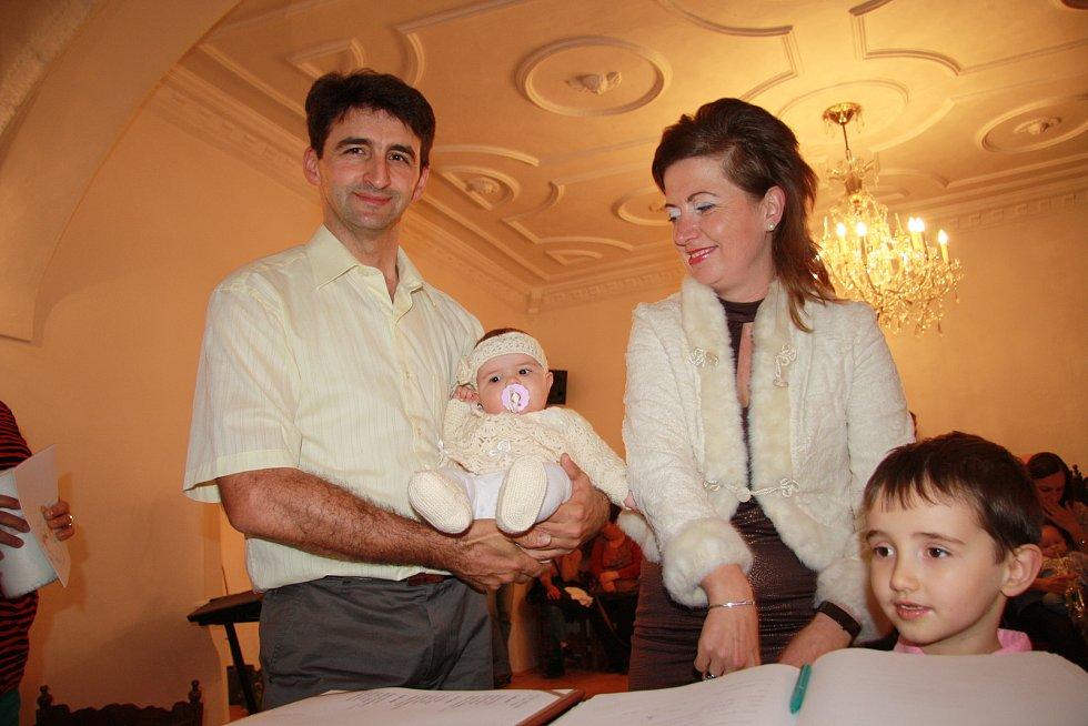 Růžena Štemberková s rodinou.
