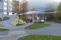 Studie lávky v Pivovarské ulici.