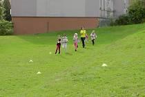Děti z Vodňany měly na programu Běh loukami.