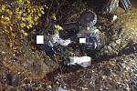 Řidič čtyřkolky utrpěl vážná zranění, se kterými byl letecky transportován do nemocnice.