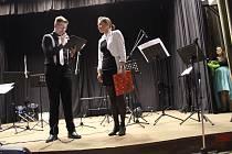 Absolventský koncert volarského saxofonisty Michala Černého.