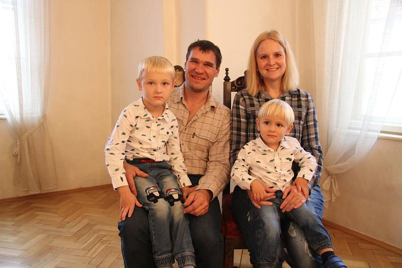 Martin Türk s rodinou.