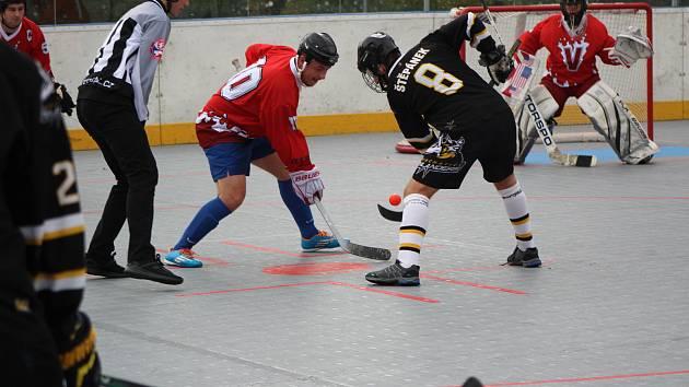 KL hokejbalistů: HBC Prachatice C - Flames Volary 11:1.
