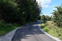 Nová silnice na Hajnou Horu a Skláře. Foto: Zdeněk Kuncl