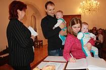 Ve čtvrtek 5. února se v prachatické obřadní síni konalo první letošní vítání nových prachatických občánků.