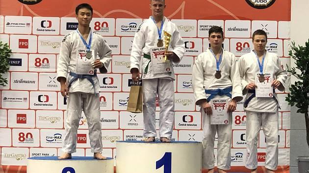 David Strouhal vyhrál Grand Prix Ostravy v dorostu do 73 kg.