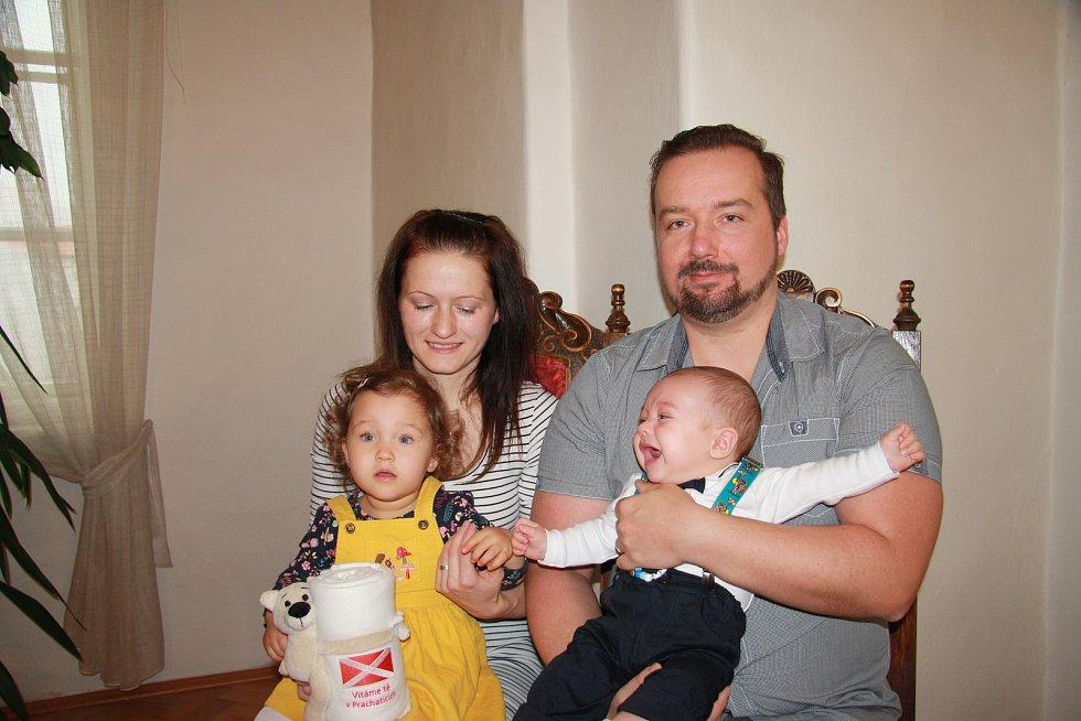 Alex Maun s rodinou.