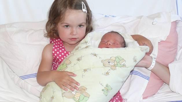 Daniel Benda se v prachatické porodnici narodil v sobotu 16. června čtyřicet minut po půlnoci. Vážil 3180 gramů a měřil 49 centimetrů. Rodiče Dagmar a Lukáš jsou z Prachatic. Fotografování brášky si nenechala ujít tříletá sestřička Simonka.