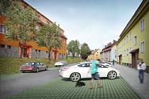 Návrh na novou Palackého ulici ve Vimperku.