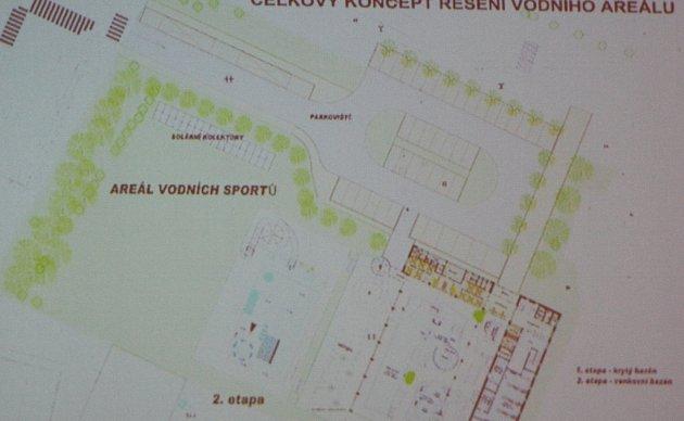 Zastupitelé Vimperku schválili zpracování projektové dokumentace pro druhou etapu areálu vodních sportů. Ta zahrnuje venkovní bazén včetně solárních panelů a přístupových cesta a parkoviště.