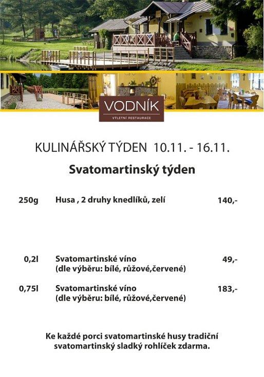 Týdenní nabídka - Restaurace Vodník Vimperk