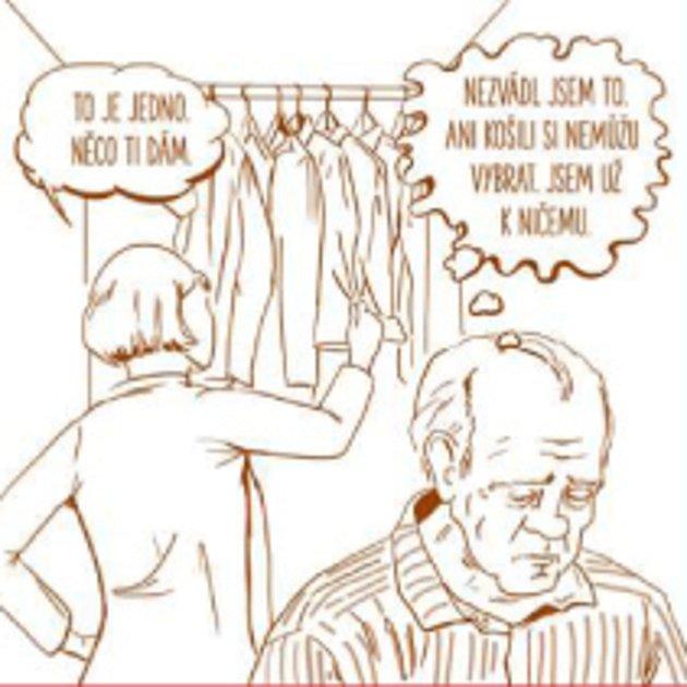 Komiksové zobrazení vknize Musime si pomáhat. Poskytla: Hana Vojtová