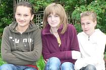 Na rodiče umí vyzrát Irena Mahurská (14 let), Táňa Shcherbanyuk (14 let) i Nikola Plevková (12 let) ze Strunkovic nad Blanicí.