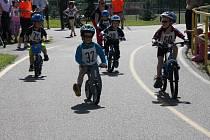 Dětský triatlon v Prachaticích.
