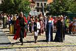Historický průvod na Slavnostech Zlaté stezky v Prachaticích.