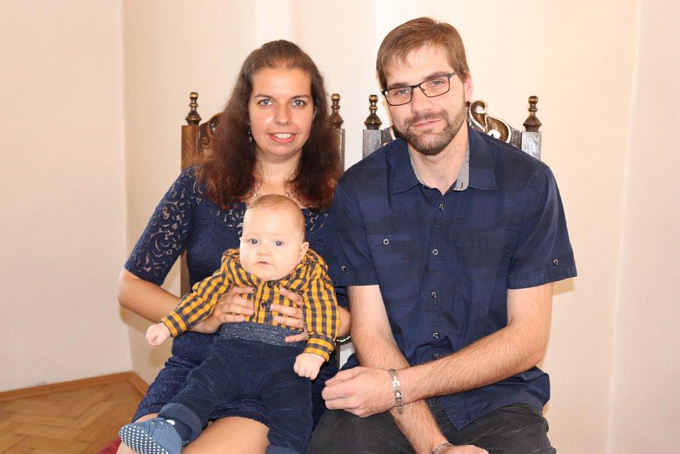 Vítek Valenta s rodinou.