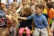 Děti se setkaly s Janem Pěsto.
