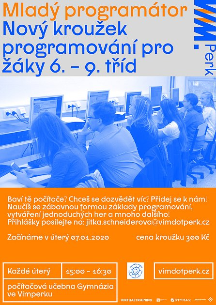 Mladí programátoři získají zkušenosti ve Vimperku. ;