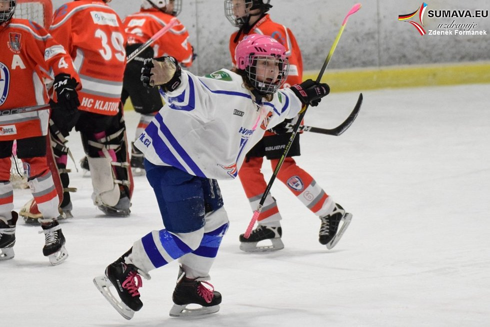 Vánoční hokejový turnaj ve Vimperku.