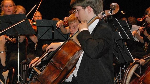 Vystoupení německého orchestru ve Vimperku.