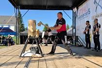 Kvalifikační závod na mistrovství České republiky v dřevorubeckém sportu Stihl Timbersports.