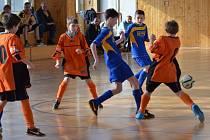 Halový fotbalový turnaj U13 ve Vimperku.