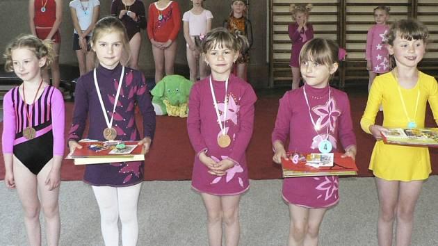 Mladé prachatické gymnastky
