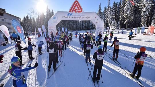 Kašperskou 30 si skvěle užívali i ti nejmladší lyžaři klasici.