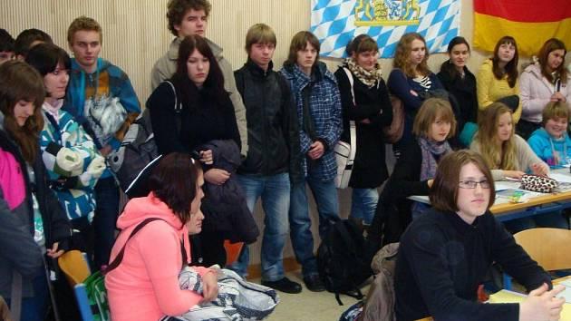 Vimperští studenti na návštěvě v Pasově.