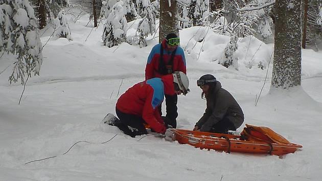 Šumavští záchranáři trénovali.