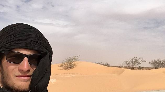 Cesta Tadeáše Šímy Afrikou z Maroka až do Kapského města. Momentálně je v Mauritánii.