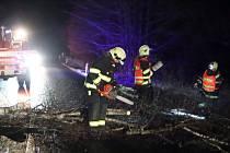 Zasáh hrabických hasičů u Čkyně.