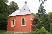 Kaple svaté Markéty, před dokončením rekonstrukce.