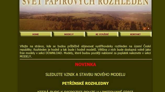 Na http://rozhledny.praguemodels.cz si můžete stáhnout přesné plány, z nichž si můžete vyrobit model rozhledny.
