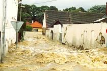 TEKLA VŠUDE. Řeka Blanice si razila cestu ulicemi ve Strunkovicích. Její ničivé jízdě bohužel nemohl nikdo zabránit. Když voda konečně opadla, nezbylo než začít uklízet a sčítat škody.