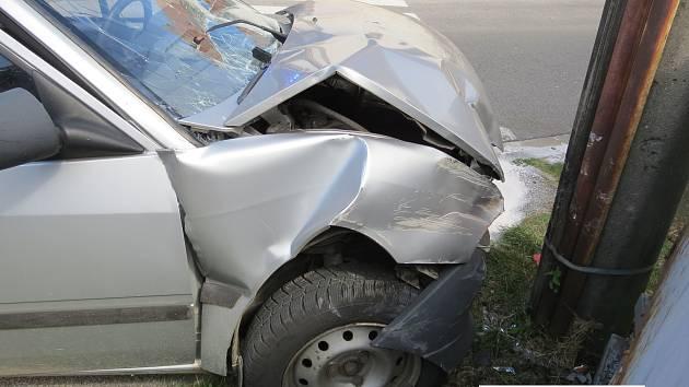 Dopravní nehoda ve Vlachově Březí.