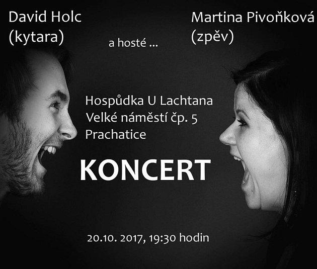 Koncert Martiny Pivoňkové a Davida Holce