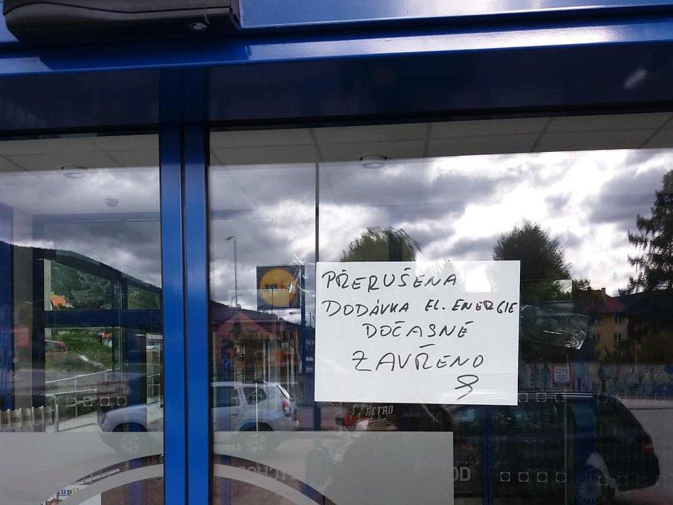 Lidl v Prachaticích byl nucen dočasně uzavřít. Foto: Deník/Barbora Vaníčková