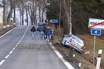 Ranní nehoda se odhehrála na rovném úseku silnice