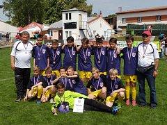 Fotbalový výběr OFS Prachatice skončil pátý na republikovém finále oblasti Západ na pátém místě.